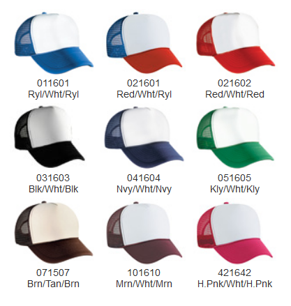 Trucker Hat Color Options c4e2b4d1dbb