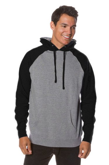 Raglan Pullover Hooded Sweatshirt